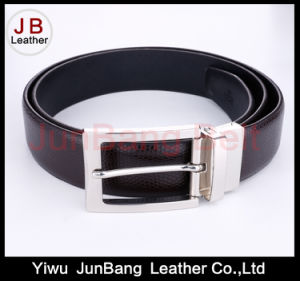 Factory Customized PU Belt Reversible Buckle for Men pictures & photos