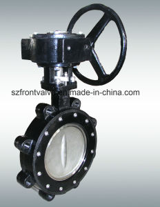 Gear Operated Cast Iron Wafer Type Butterfly Valve pictures & photos