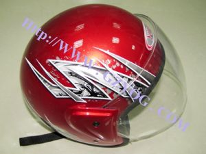 Yog Motorcycle Motocross Bike Red Half Face Helmet pictures & photos