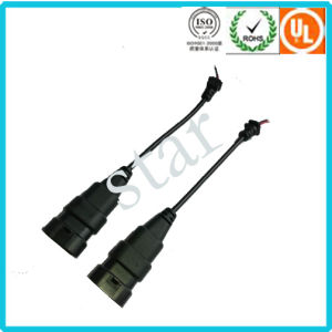 9004/9005/9007 Waterproof Molding Light Connector Wire Harness with PVC Tube pictures & photos
