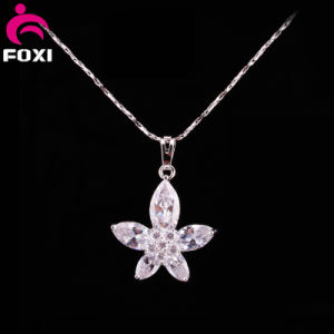 Beauty Flower Design White Gold Pendants Jewelry pictures & photos