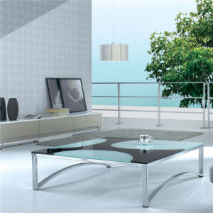 Tempered Glass Top Coffee Table (CJ-066) pictures & photos