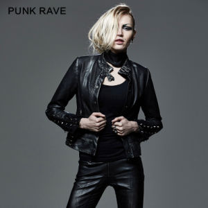 2015 Autumn New Design Punk Rave Black Women Jacket (Y-584) pictures & photos