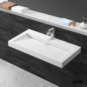 1200mm Length Solid Surface Wall Hung Bathroom Sinks Wash Basin pictures & photos