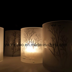White Glass Jar Soy Candles with Private Label pictures & photos