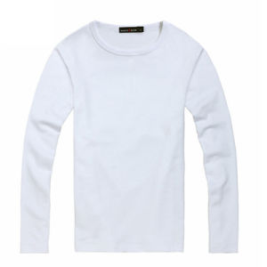 Customize Brand Logo Cheap Blank Men Long Sleeve T-Shirt pictures & photos