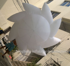 with Muti-Color LED Inside Free Air Blower White Inflatable Decoration