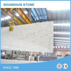 White Sparkled Quartz Stone Slab for Kitchen Countertop pictures & photos