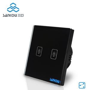 Sankou Electric Switch EU Standard 220V/50~60Hz, Luxury Crystal Glass Panel, 2 Gang 2 Way Touch Wall Switch1