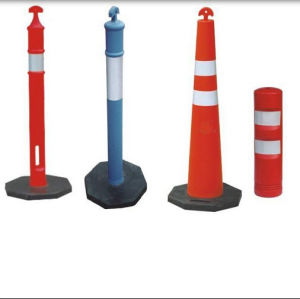 Flexible Polyethylene Plastic T-Top Delineator Traffic Parking Cone pictures & photos
