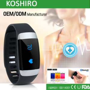 Silicon Bluetooth Smart Watch Bracelet with Heart Rate pictures & photos