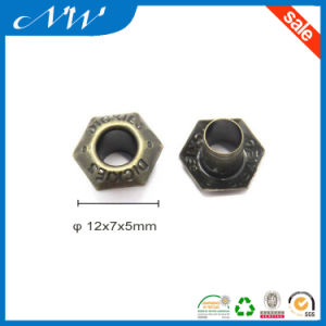 12mm Custom Logo Hexagon Eyelet for Shoes pictures & photos