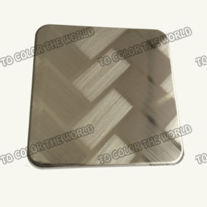 201 Stainless Steel Ket010 Etched Sheet for Decoration Materials pictures & photos