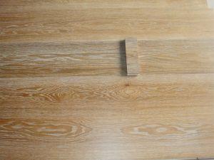 Oak Brushed White Grain UV Lacquered Engineered Wood Flooring