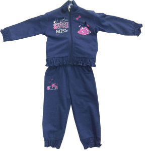 Fleece Kids Girl Sportswear Suit Track Suit Jog Suit in Children ′s Clothes Swg-133 pictures & photos