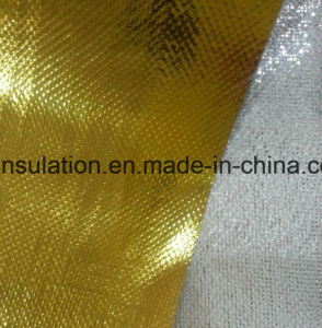 Aluminized Fiberglass Cloth for Reflective Insulation Glod Colored pictures & photos