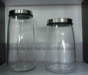 Fat and Tall Glass Jar, Food Container