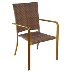 PE Wicker Dining Chair with Aluminum Frame (RC-06007) pictures & photos