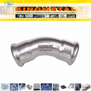 Stainless Steel 304, 316L Press Fitting Compression 45 Degree Elbow pictures & photos