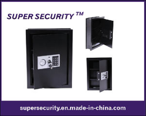 Digital Wall Mounted Home Security Storage Black Safe (SMQ48) pictures & photos
