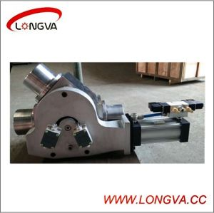 Stainless Steel 45degree Plug Diverter Valve with Actuator pictures & photos