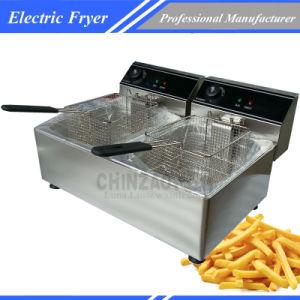 20L Double Tank Professional Electric Deep Fryer pictures & photos