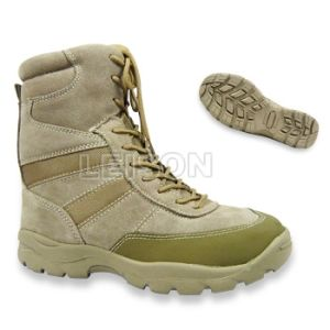 Tactical Boots of Cowhide Full Grain Leather/ Anti-Slip and Anti-Abrasion pictures & photos