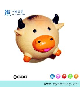 Hot Selling Latex Cow Pet Products pictures & photos