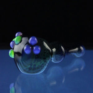 Glass Poison Lagoon Spoon for Smoking with Slyme Bumps (ES-HP-069) pictures & photos