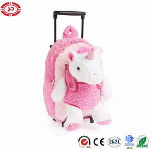 Pink Girl Unicorn Plush Bag Fancy Travel Kids Trolley Bag pictures & photos