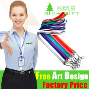 Eco-Friendly Custom Polyester Printed Lanyard with Retractable Badge Reel pictures & photos