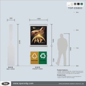 Double Side Static PC Board Advertising Trash-Bin Light Box pictures & photos