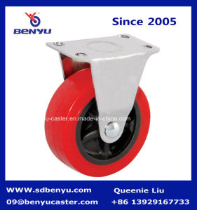 Hot Sale PU Bolt Castor with Side Brake pictures & photos