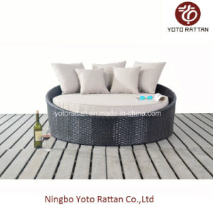 Outdoor Rattan Small Daybed in Steel Frame (1114) pictures & photos