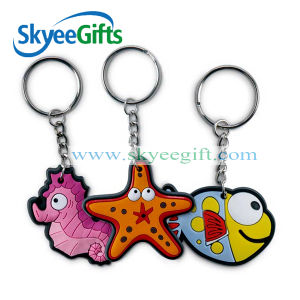 Custom Made High Quality 2D / 3D Soft Enamel PVC Keychain pictures & photos