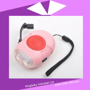 Souvenir Cute Hand Crank Lighting Rechargeable Torch (HA-003) pictures & photos