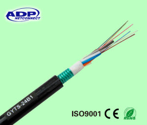 Duct Layer Single Mode Armored Fiber Optic Cable GYTS pictures & photos