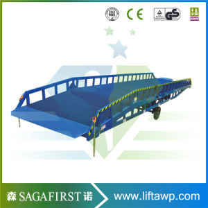 10ton 12ton Manual Hydraulic Mobile Container Dock Ramp Bridge pictures & photos