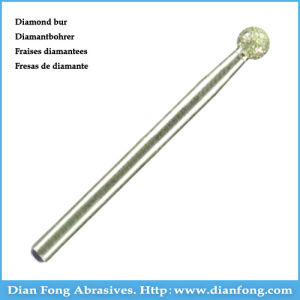 001-035m Round Shape Medium Grit Diamond Coating Denture Burs pictures & photos