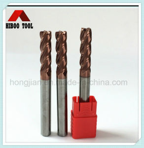 China Manufacturer HRC55 Copper Coating Corner Raduis End Mill pictures & photos