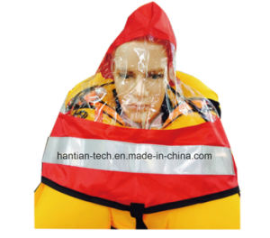Inflatable Life Jacket Hood with Transpancy Visor pictures & photos