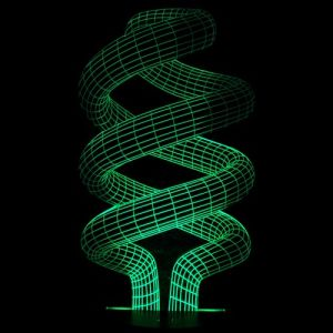 Creative Home Decor LED 3D Visual Spiral Artistic Acrylic Night Light pictures & photos