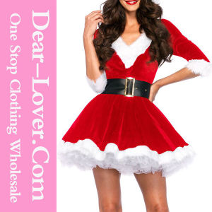 2016 Fashion Xmas Santa Sexy Christmas Dance Costume pictures & photos
