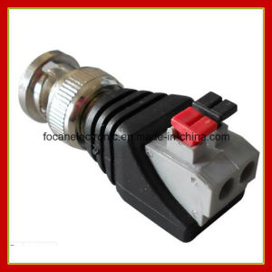 CCTV BNC Male Pressed Connector with Screwless Terminals pictures & photos