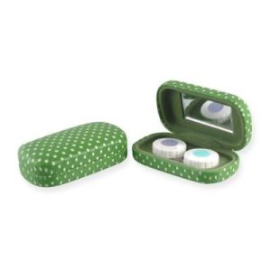 PU Leather Cute Customized Contact Lens Case with Mirror