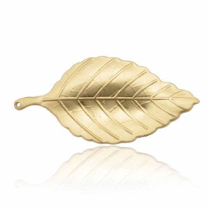 Fashion Zinc Alloy Silver and Gold Plated Leaves Brooch for Lady pictures & photos
