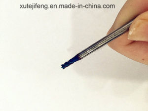 D2.5*8*4*50*4t High Quality Naco-Blue HRC60 Solid Carbide Flat End Mill From Professional Manufacture pictures & photos