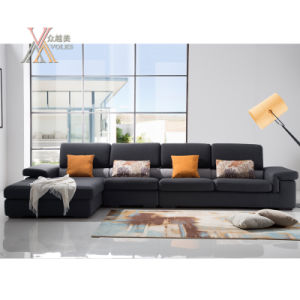 Fabric Sofa with Cushion (1605) pictures & photos
