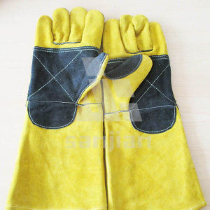 China Factory Long Cuff Welding Gloves Safety Gloves with CE pictures & photos