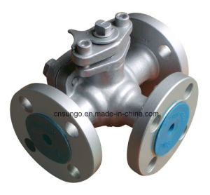 Three Way Ball Valve with Wrench pictures & photos
